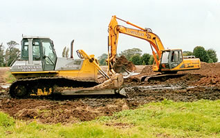 Our Bulldozers and Excavators landscaping